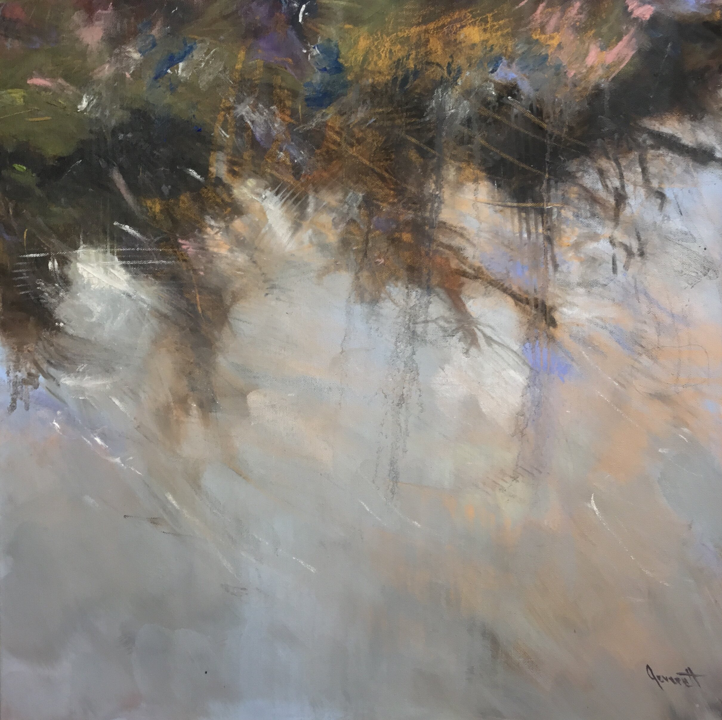 "Slipstream I, 24 x 24"", oil on canvas"