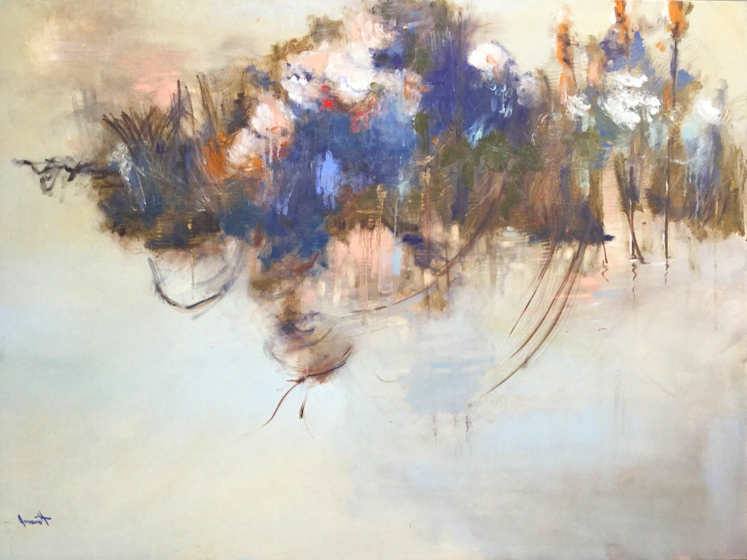 "Firepond I, 36 x 48 "", oil on canvas"
