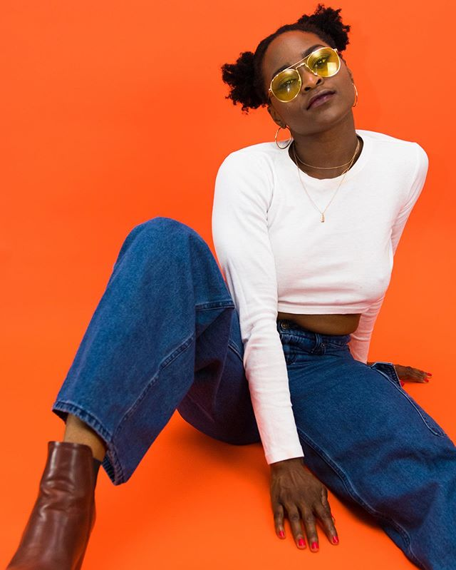 🕶🧡 . . @cookeyygam . . . #model #singer #music #fashion #beauty #dancer #sunset #woc #nigerian #photography #ezestudio #blackartists #blackgirlmagic