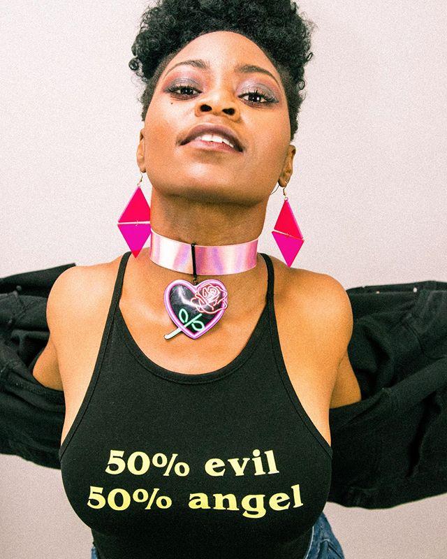 50/50 . . . @cookeyygam . . . #model #singer #music #fashion #beauty #dancer #80sfashion #woc #nigerian #photography #ezestudio #blackartists #blackgirlmagic #vintage
