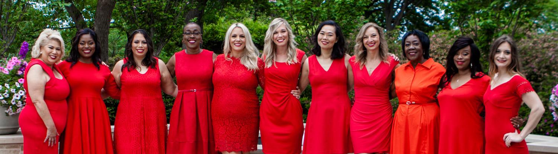 The spectacular Go Red For Women team. Photo courtesy of goredforwomen.com!
