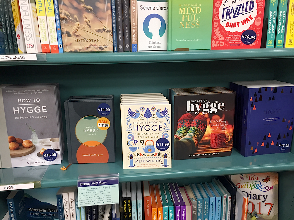 Hygge making itself comfortable on bookstores across the world. Photo by  Grace McManus .