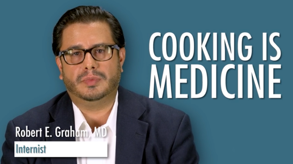Dr. Graham delivers advice on the power of cooking for HealthGuru!