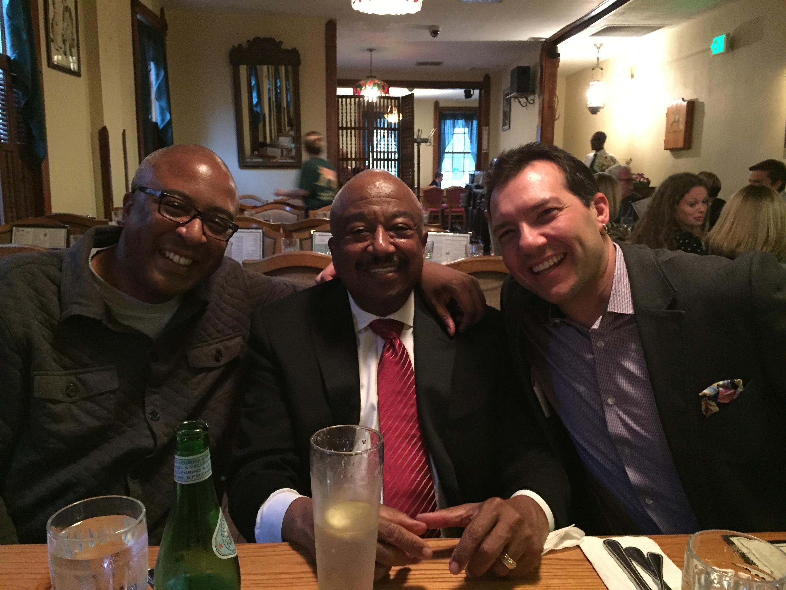 With Duane Davis and Keith Hall