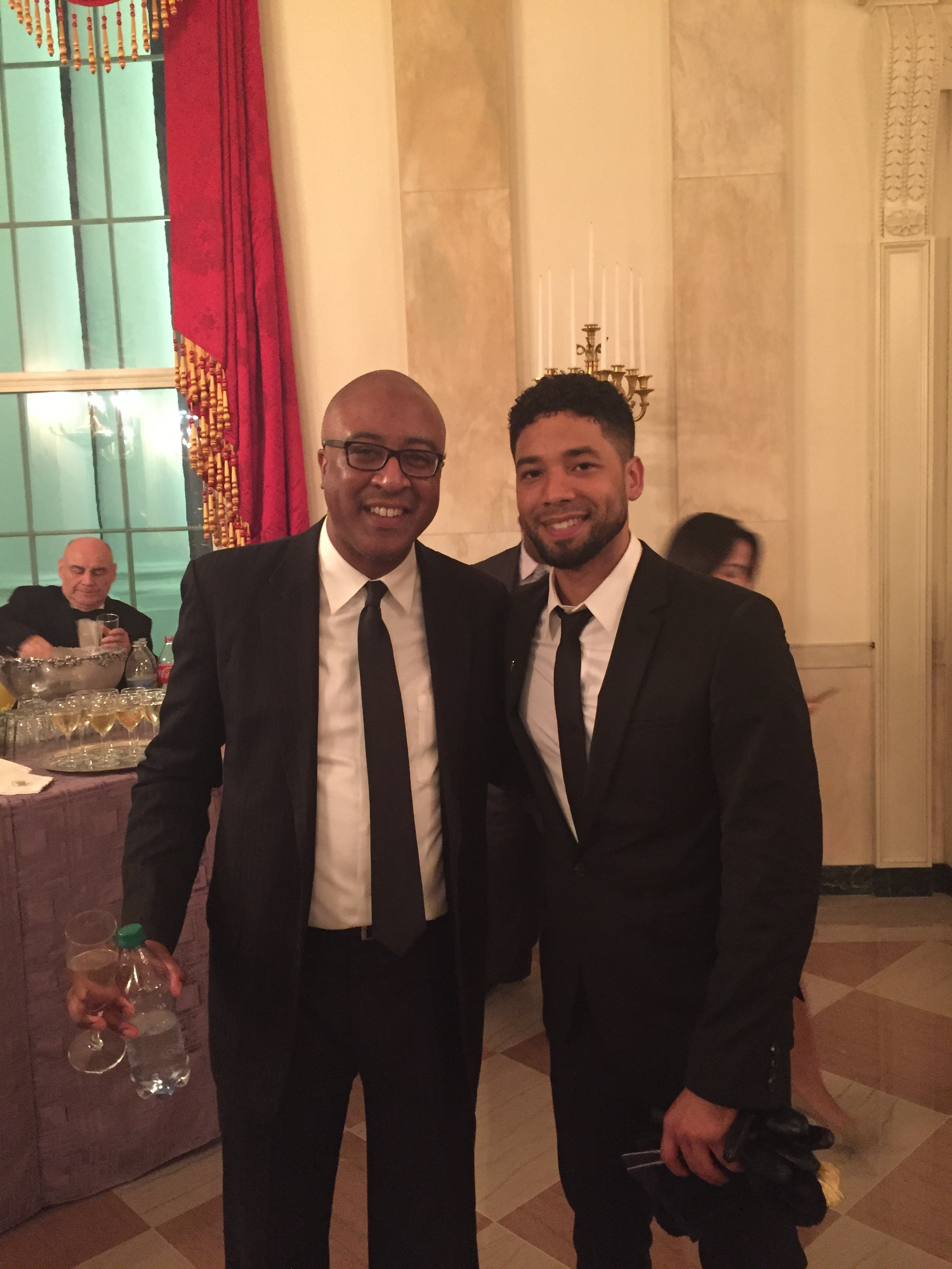 With Jussie Smollett in The White House