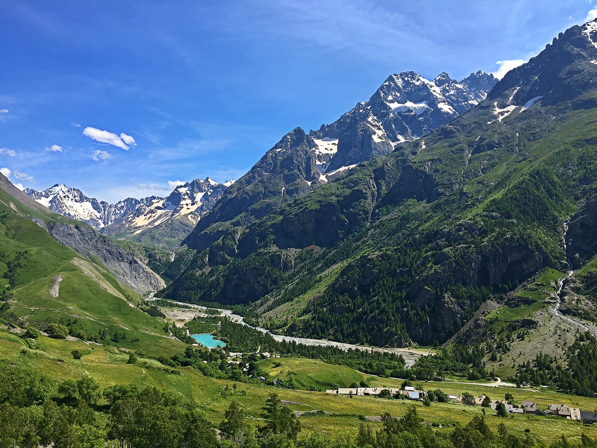 View from Descent of Col du Lautaret - Had to hit the breaks and pop of to capture this one