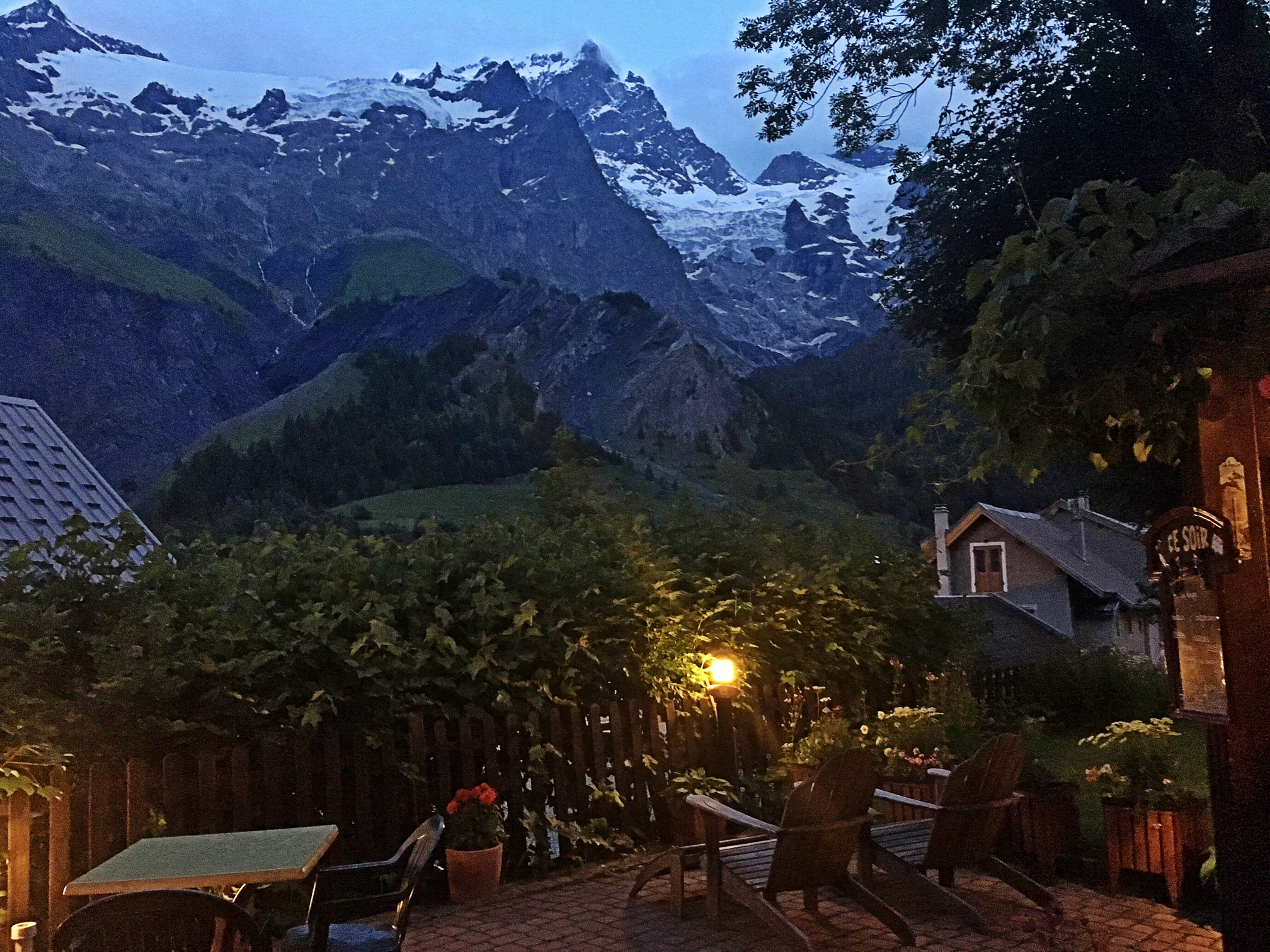 View from the garden at Auberge Edelweiss