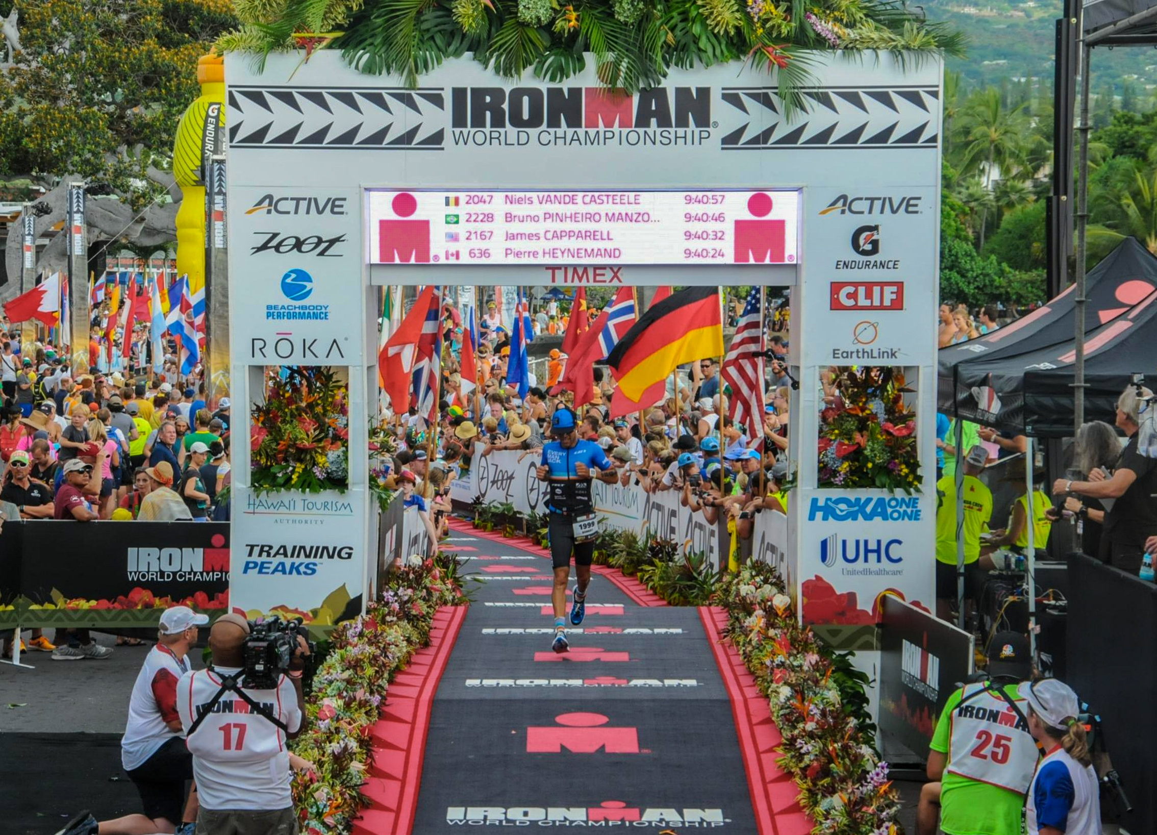Ironman World Champs Kona Finish Line