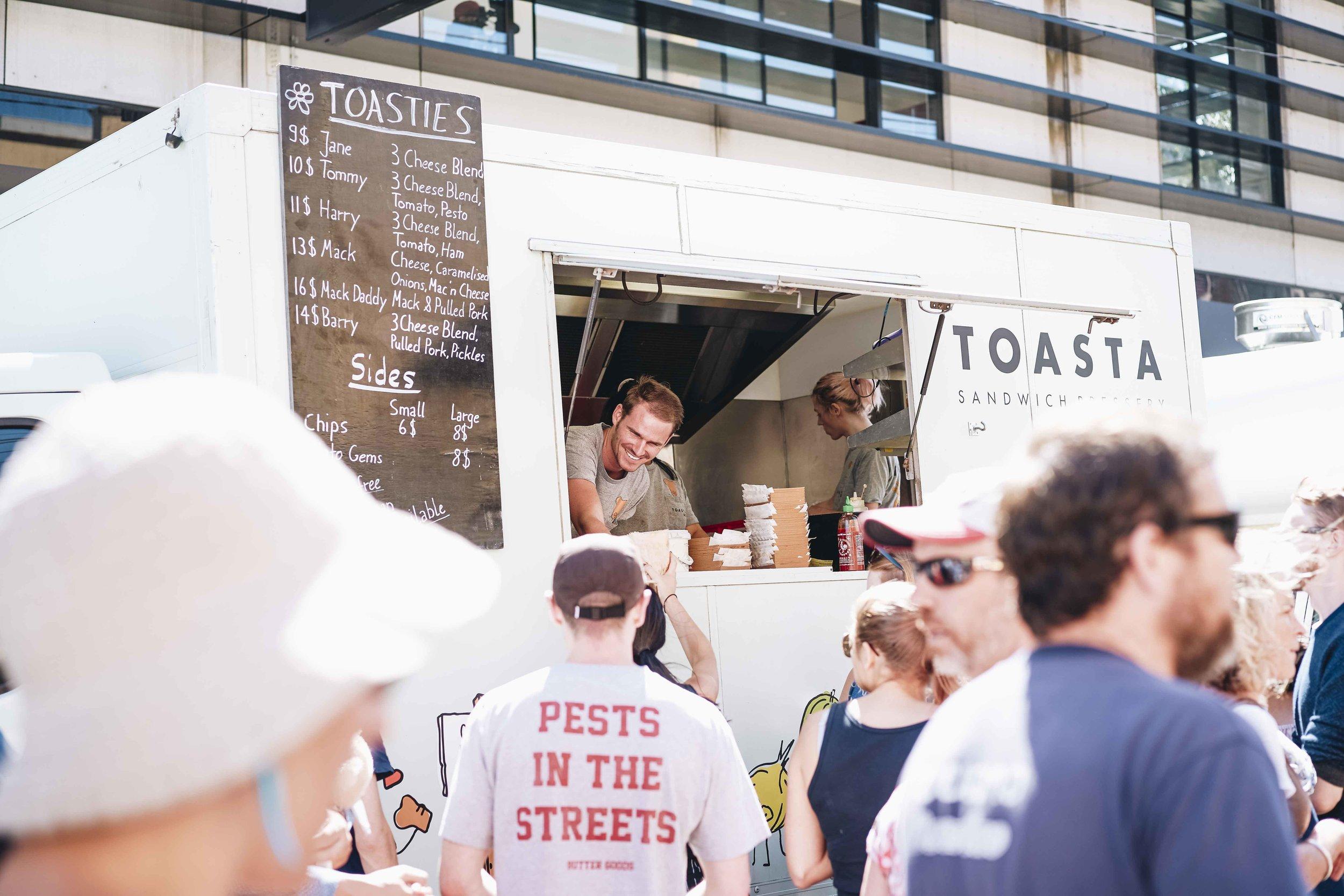 TOASTA Food TruckSAMPLE MENU* -