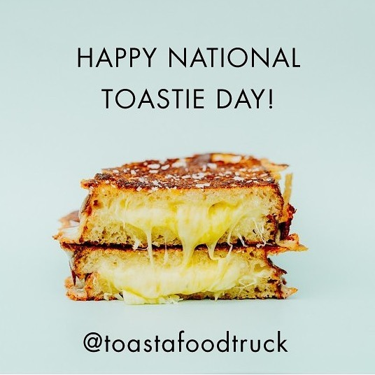 What a time to be alive!!⁠⠀ ⁠⠀ Happy #NationalToastieDay to all them toastie lovers out there - be sure to get in to our store @toastaandco to celebrate!⁠⠀ ⁠⠀ --------------------⁠⠀ #toasta #melbourne #melbournefood #grilledcheese #melbourneeats #melbournecafe #foodtruck #catering #foodtruckcatering #nationaltoastieday