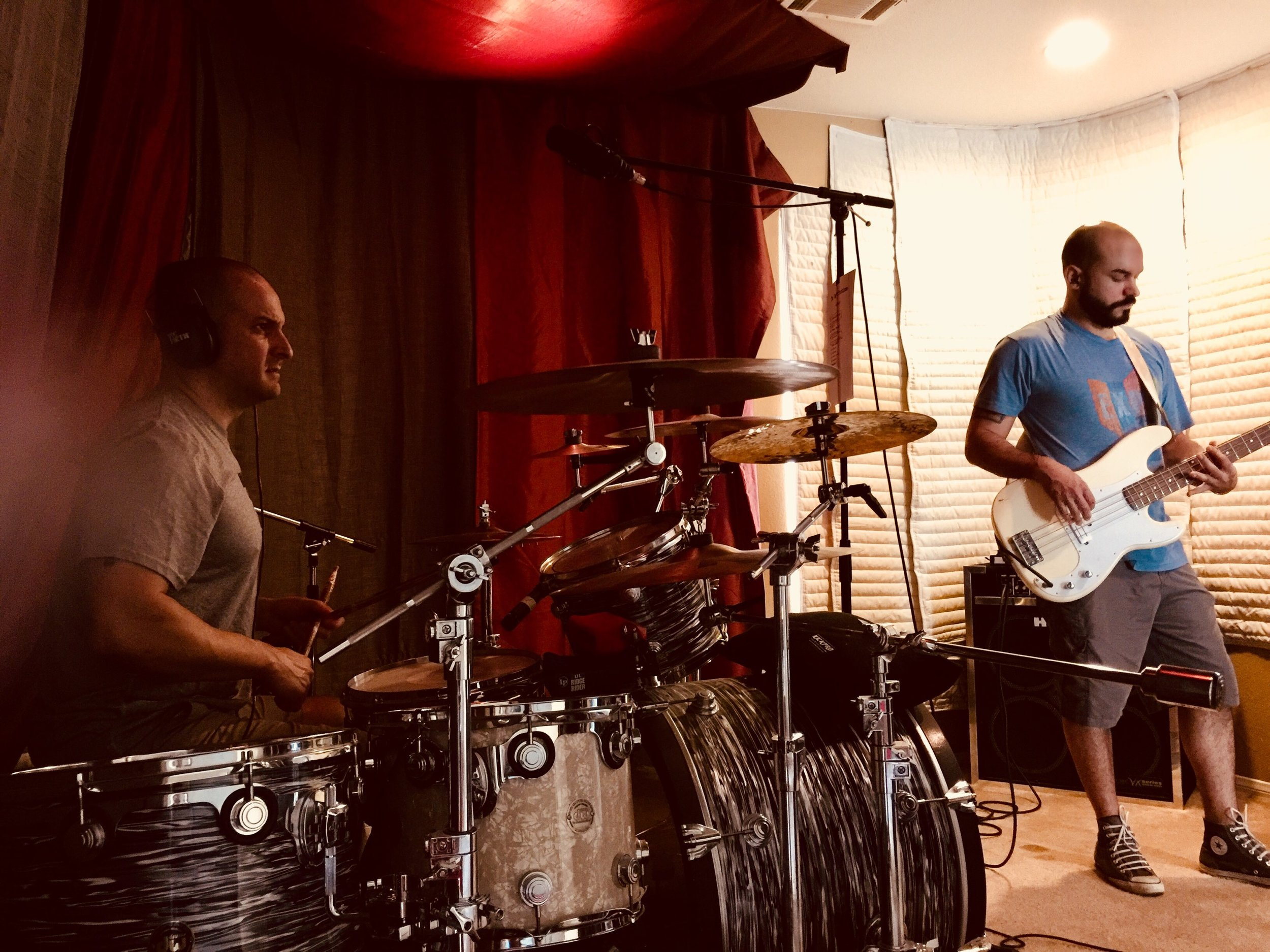 Rich on drums, Eliss on bass supply the girth of The Imperfections' sound.