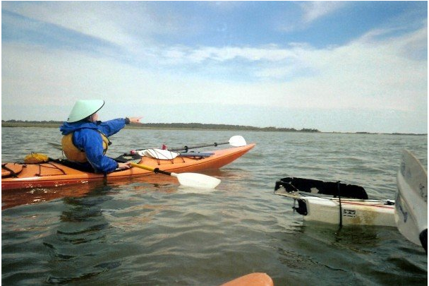 Laura's early instructing days on Georgia's Bull River