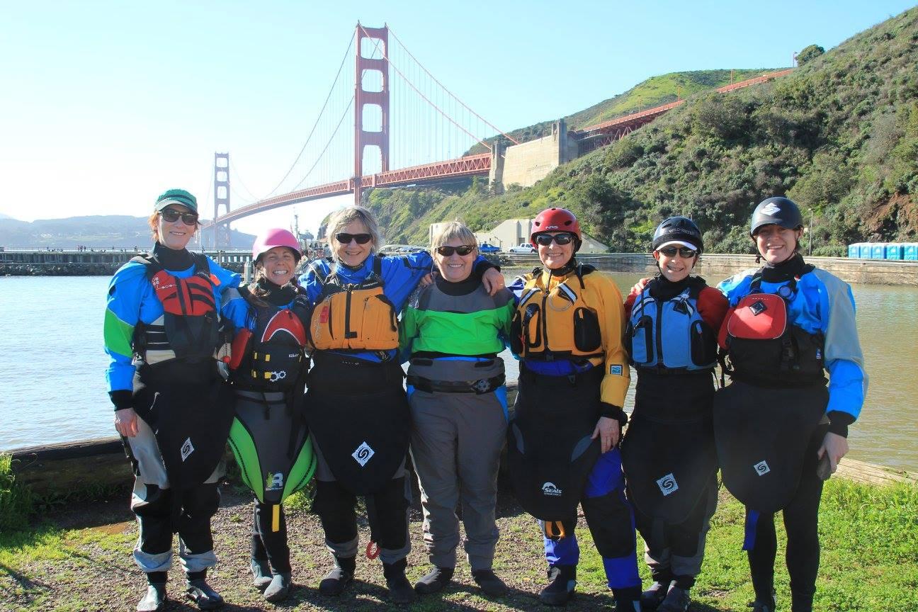 Sharing my love of paddling through teaching. Photo: California Women's Watersport Collective , Melissa DeMarie
