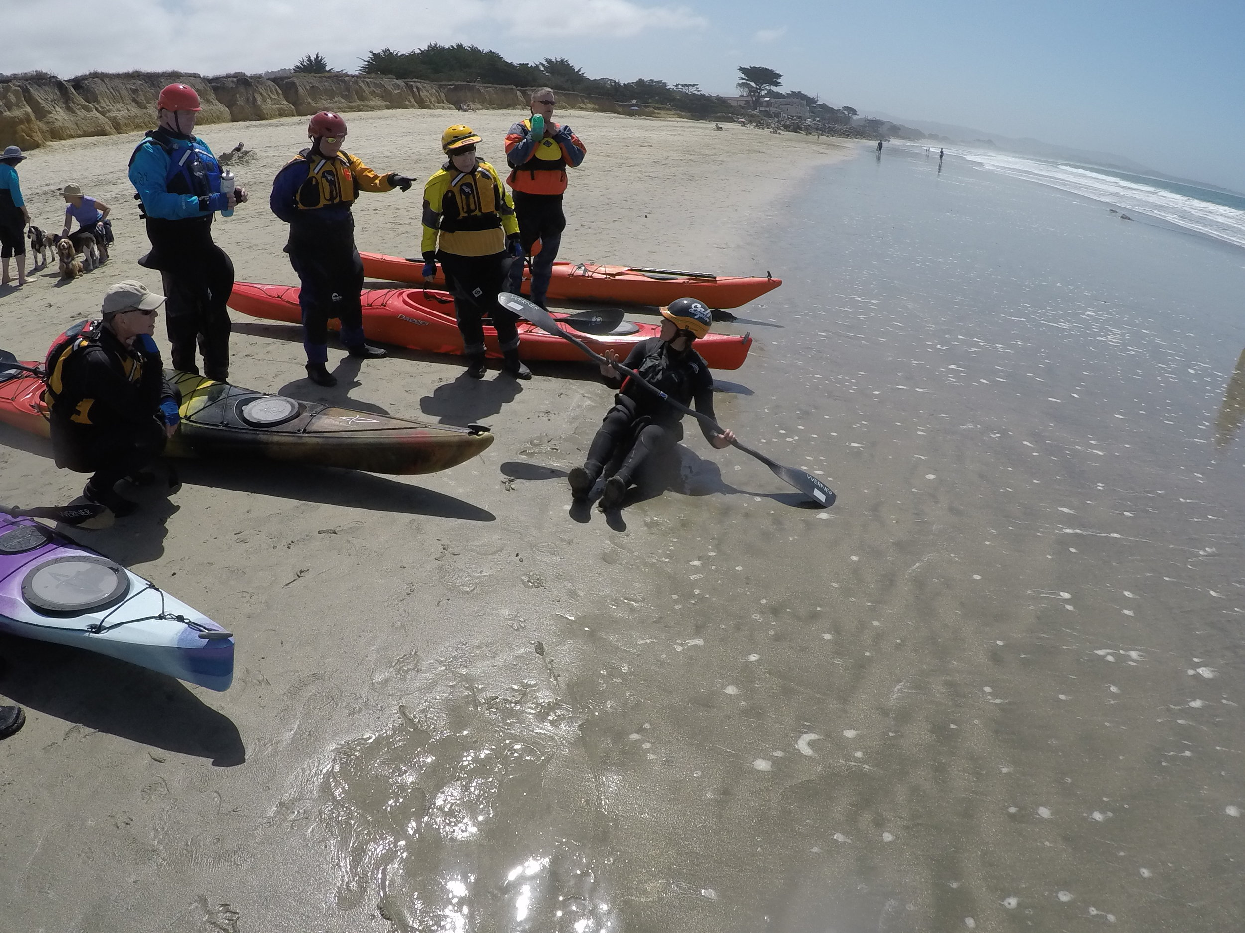 Introducing a class to one of my favorite places to paddle – the surf!  Photo: Sean Finigan