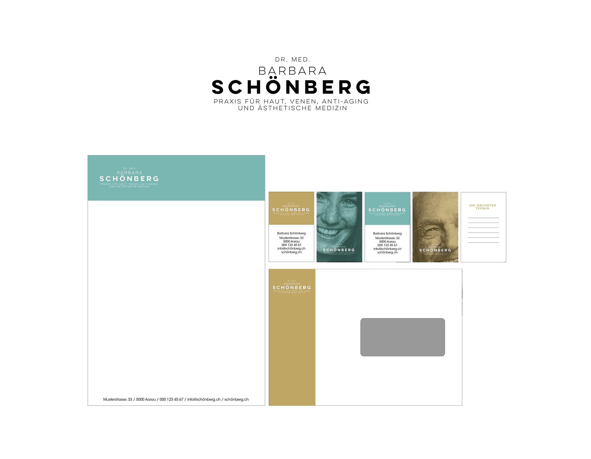 Gestaltung Logo und Briefschaften I Praxis Barbara Schönberg