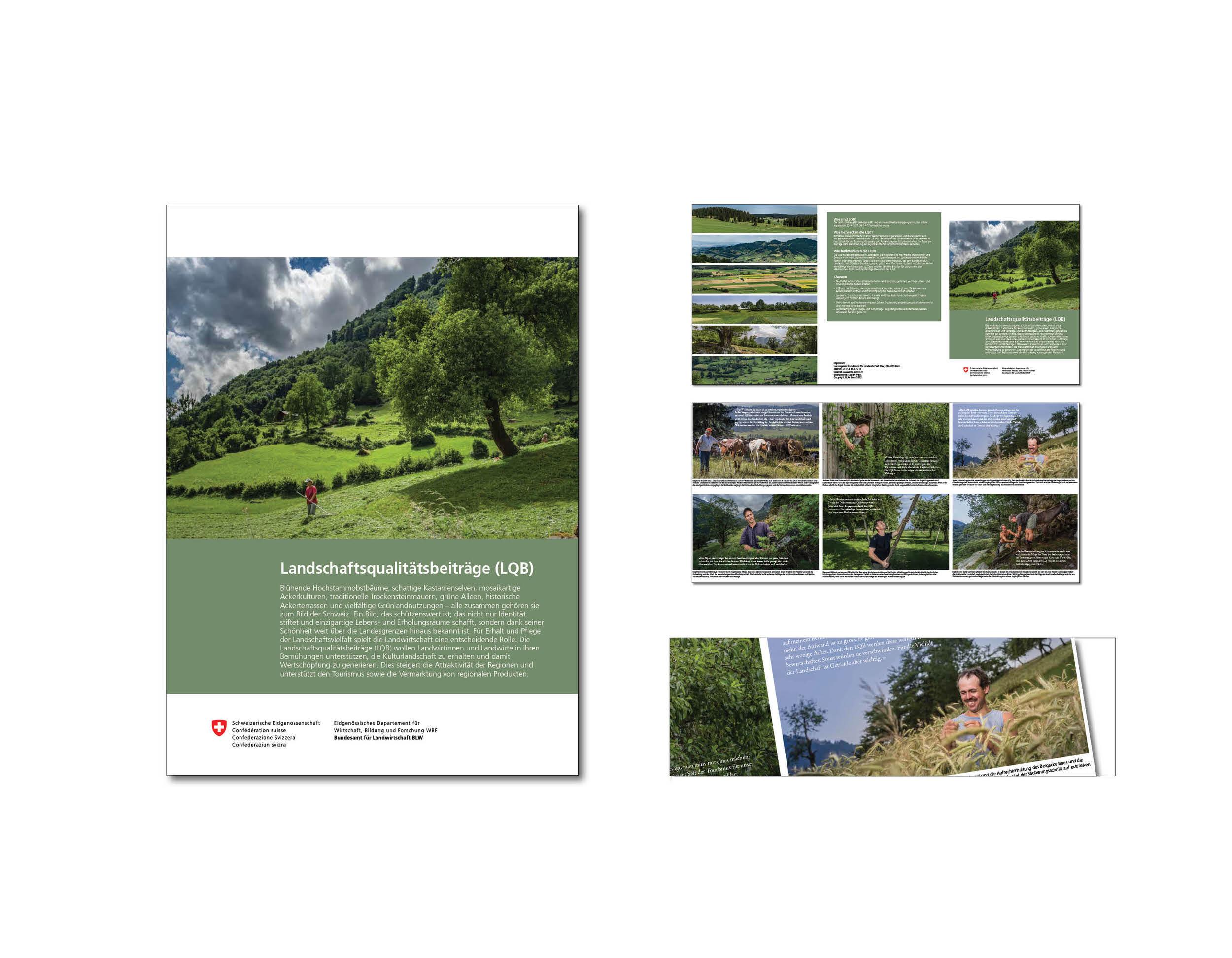 Gestaltung LQB-Broschüre I Bundesamt für Landwirtschaft
