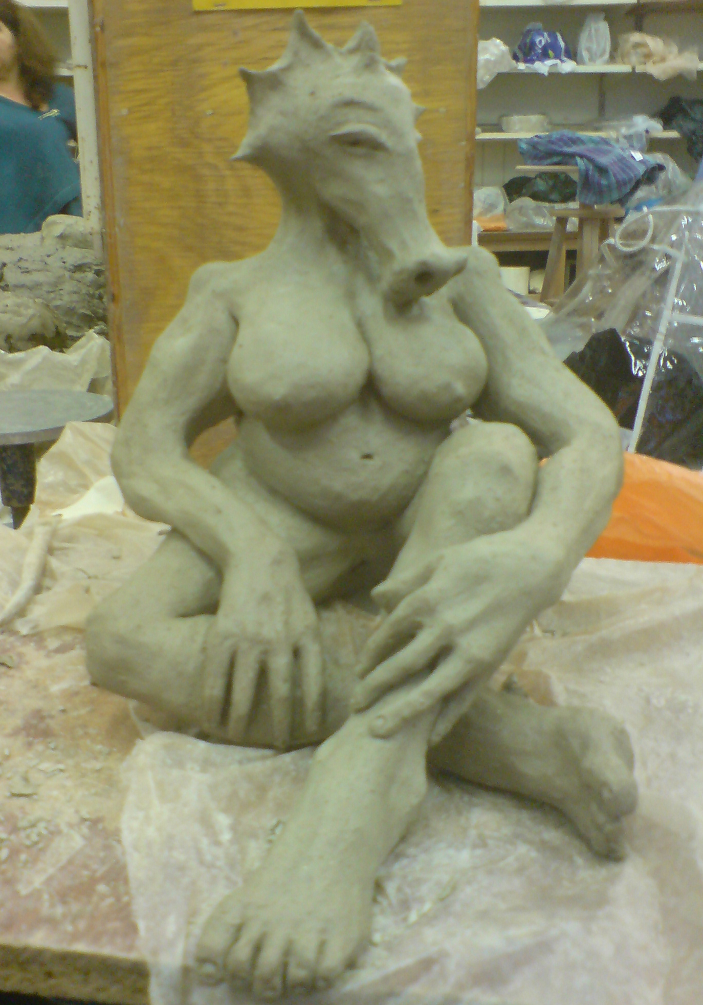 'Dragon lady' by CJ Munn (work in progress) - sold.