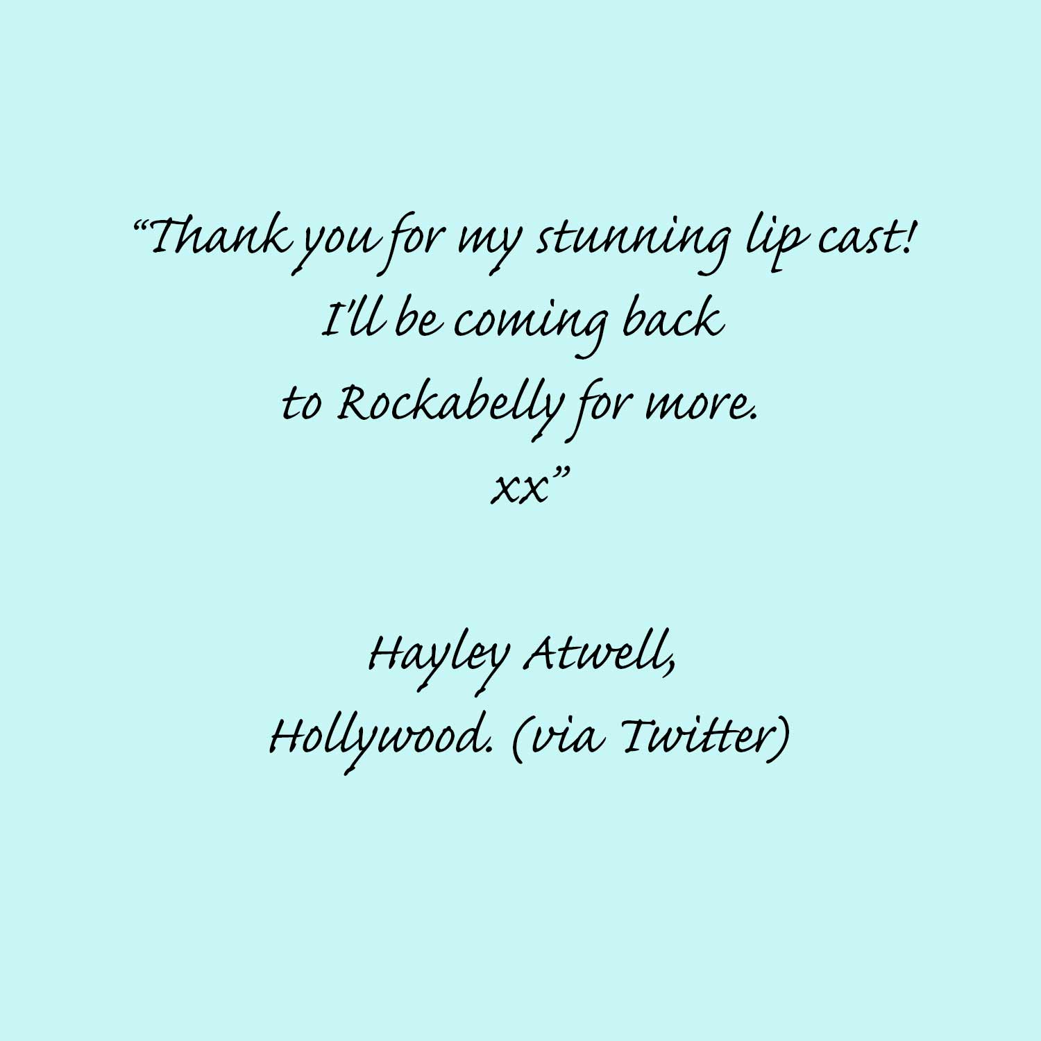 Hayley Atwell reviews Rockabelly Lifecasts