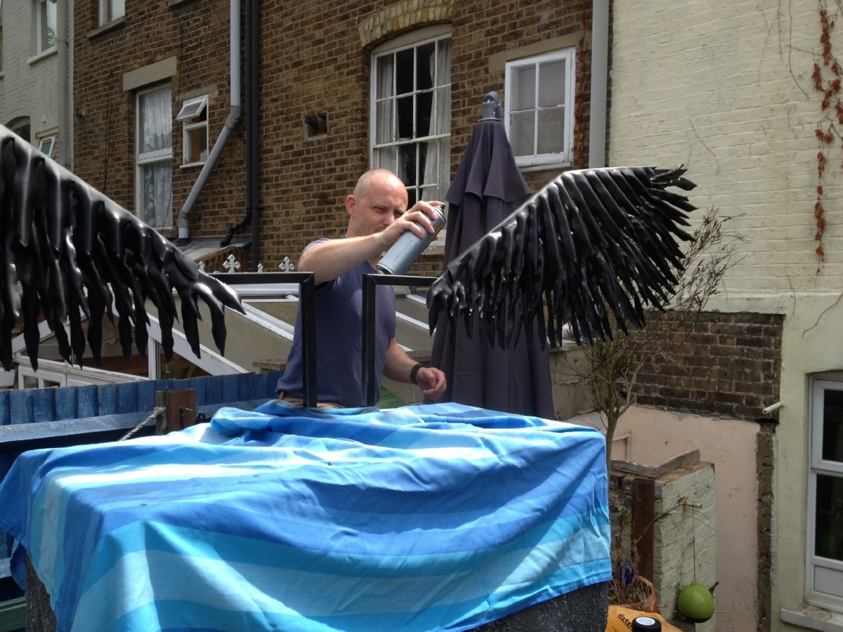 André creating wings
