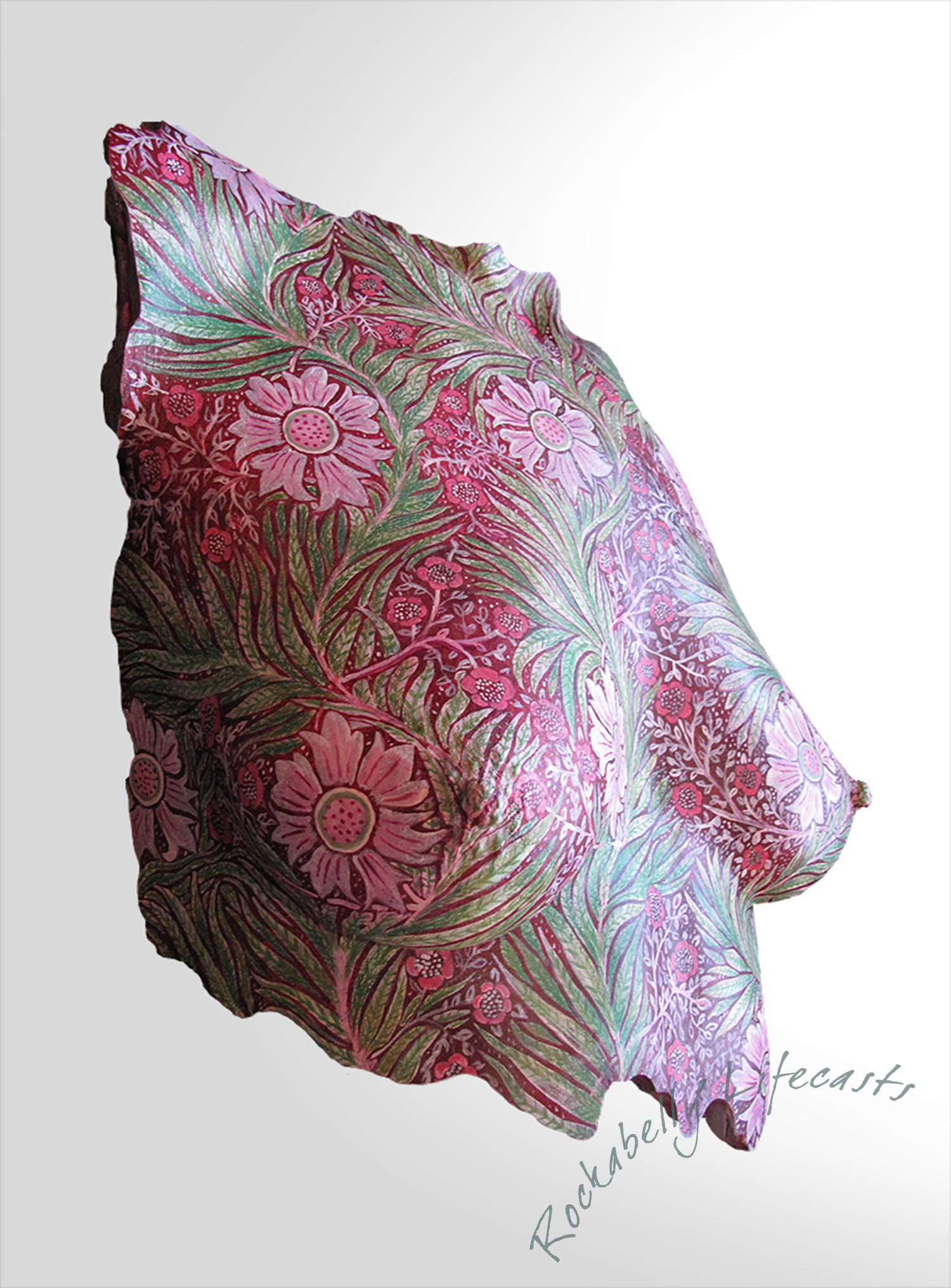 Hand-painted breast cast by Masters & Munn