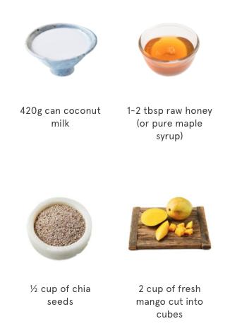 Sticky Mango & Coconut Chia Pudding