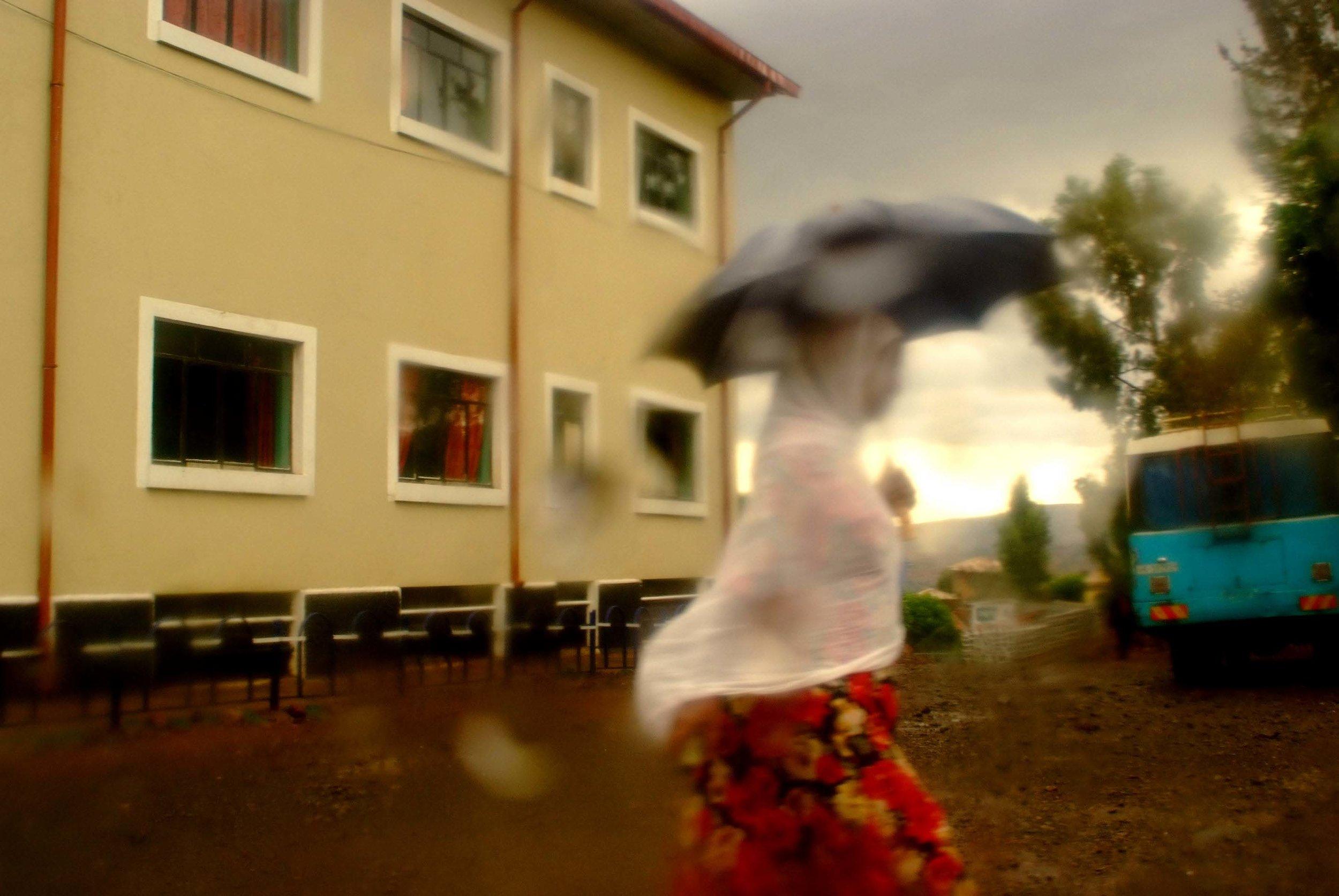 """""""Woman in the rain"""" Gondor, Ethiopia"""