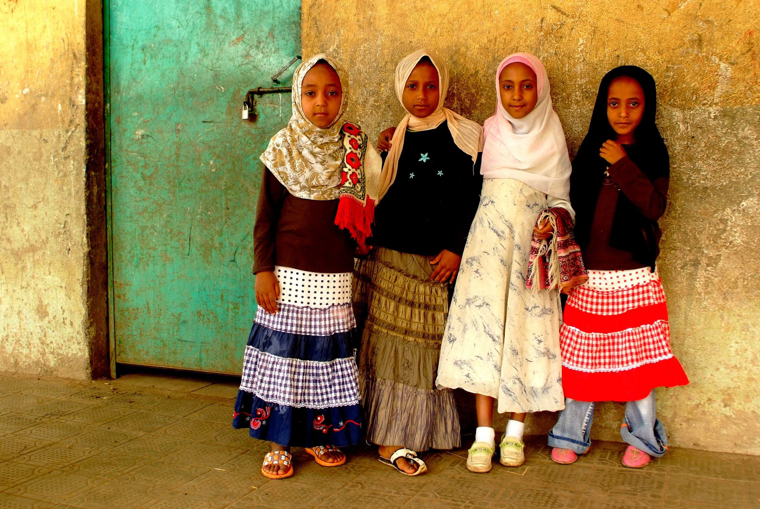 """Little girls at the Mosque"" Gondor, Ethiopia"