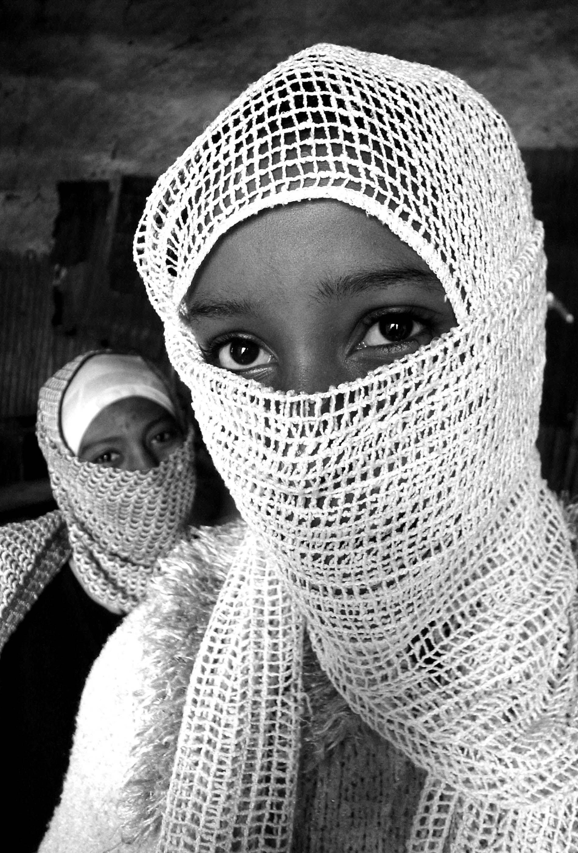 """Shy girls in Quran school"" Islam in Ethiopia series - Dese, Welo, Ethiopia"