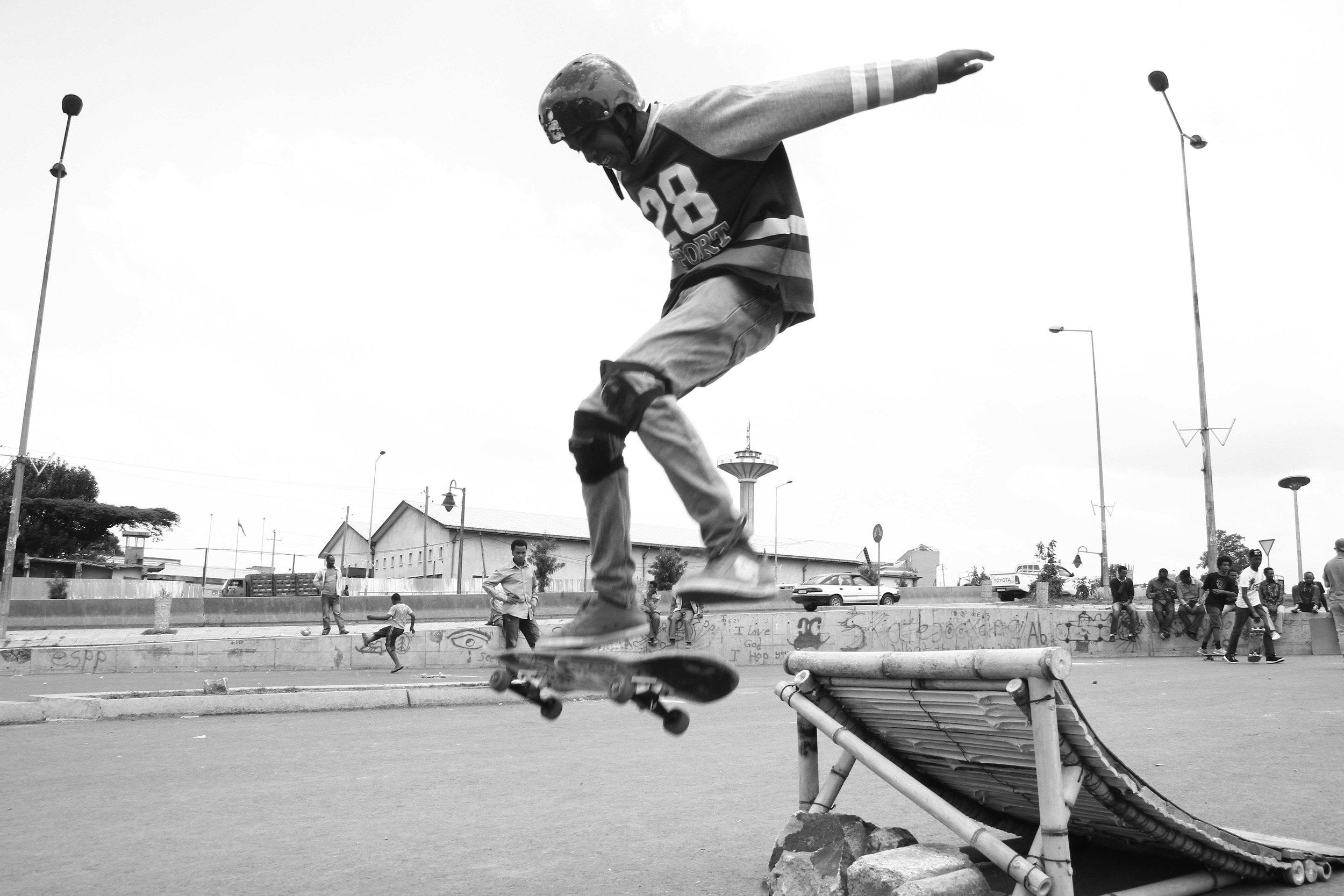 """Skating in Addis"" Addis Ababa, Ethiopia"