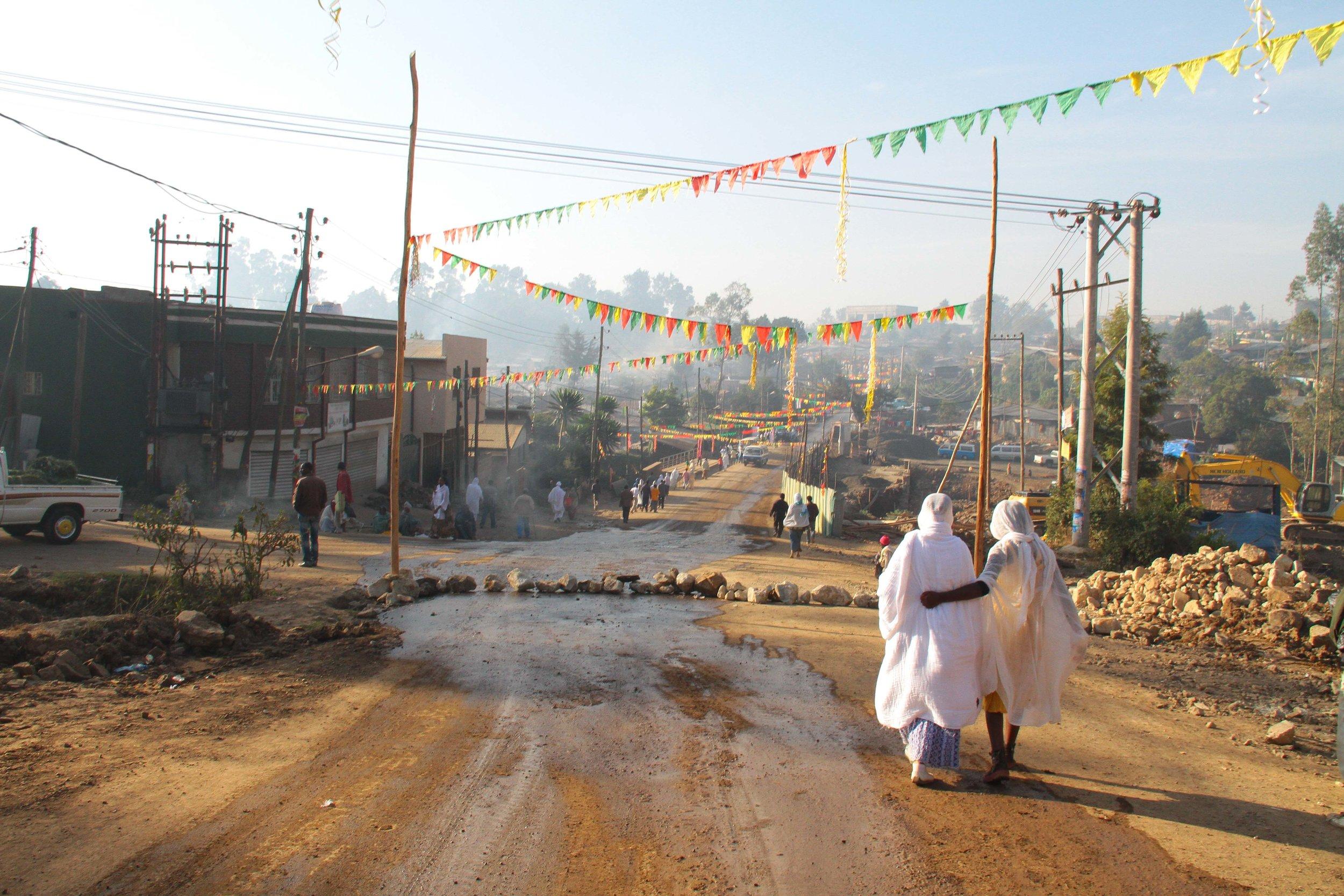"""The road to Timket"" Addis Ababa, Ethiopia"