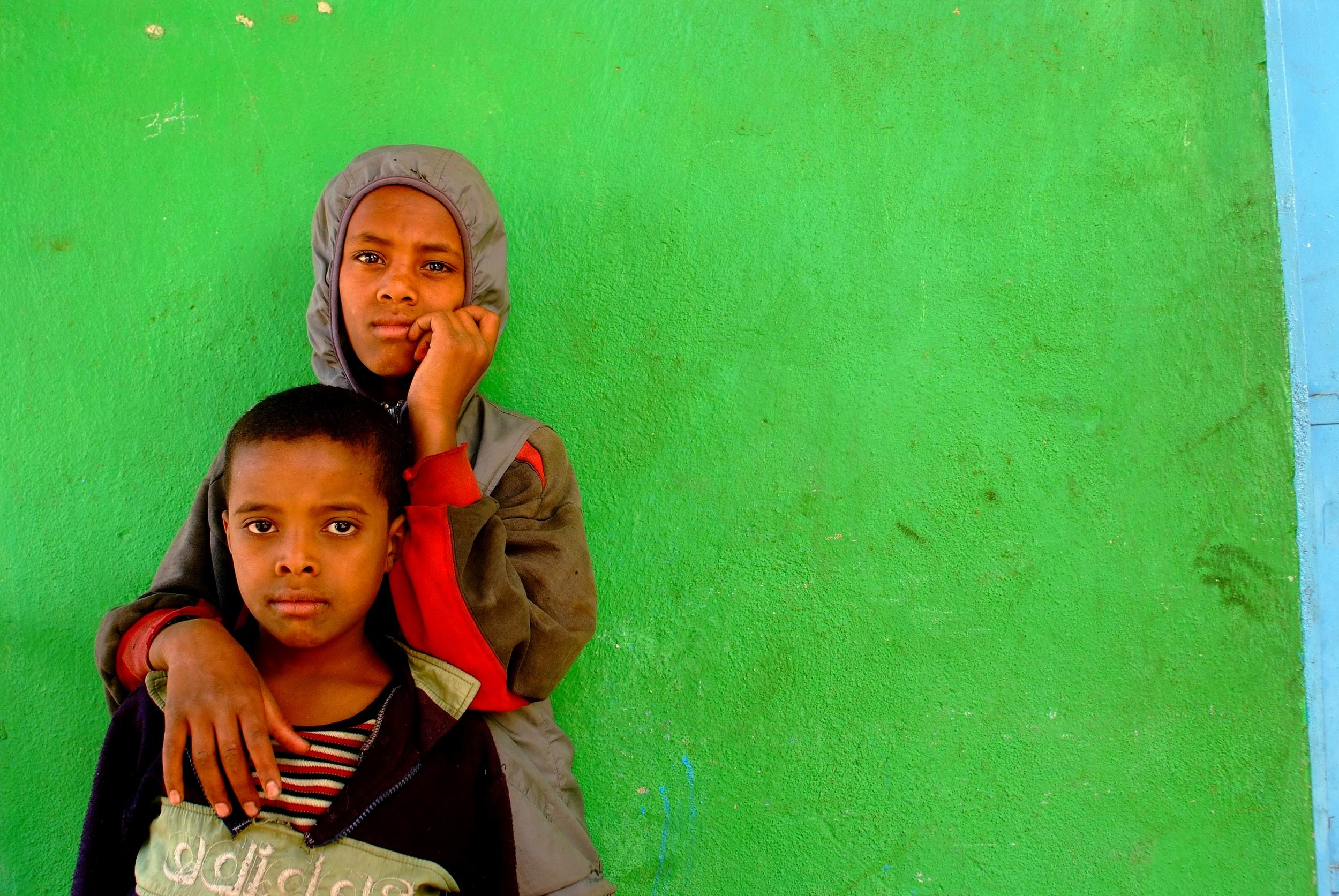 """Boys and green wall"" Islam in Ethiopia series - Gondor, Ethiopia"