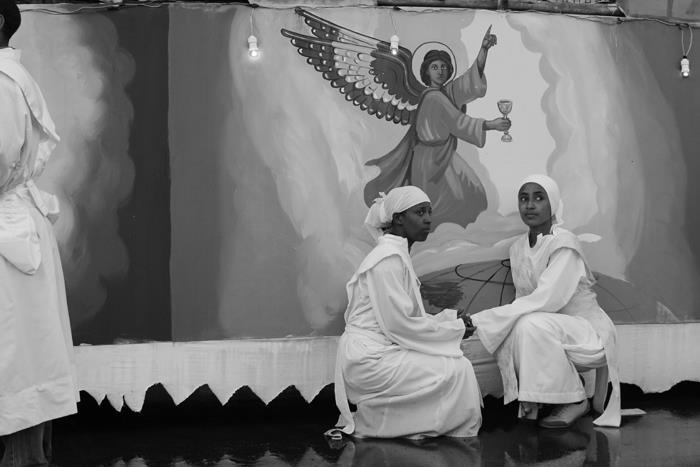 """""""Women posing durning Meskel ceremony"""" Addis Ababa, Ethiopia"""