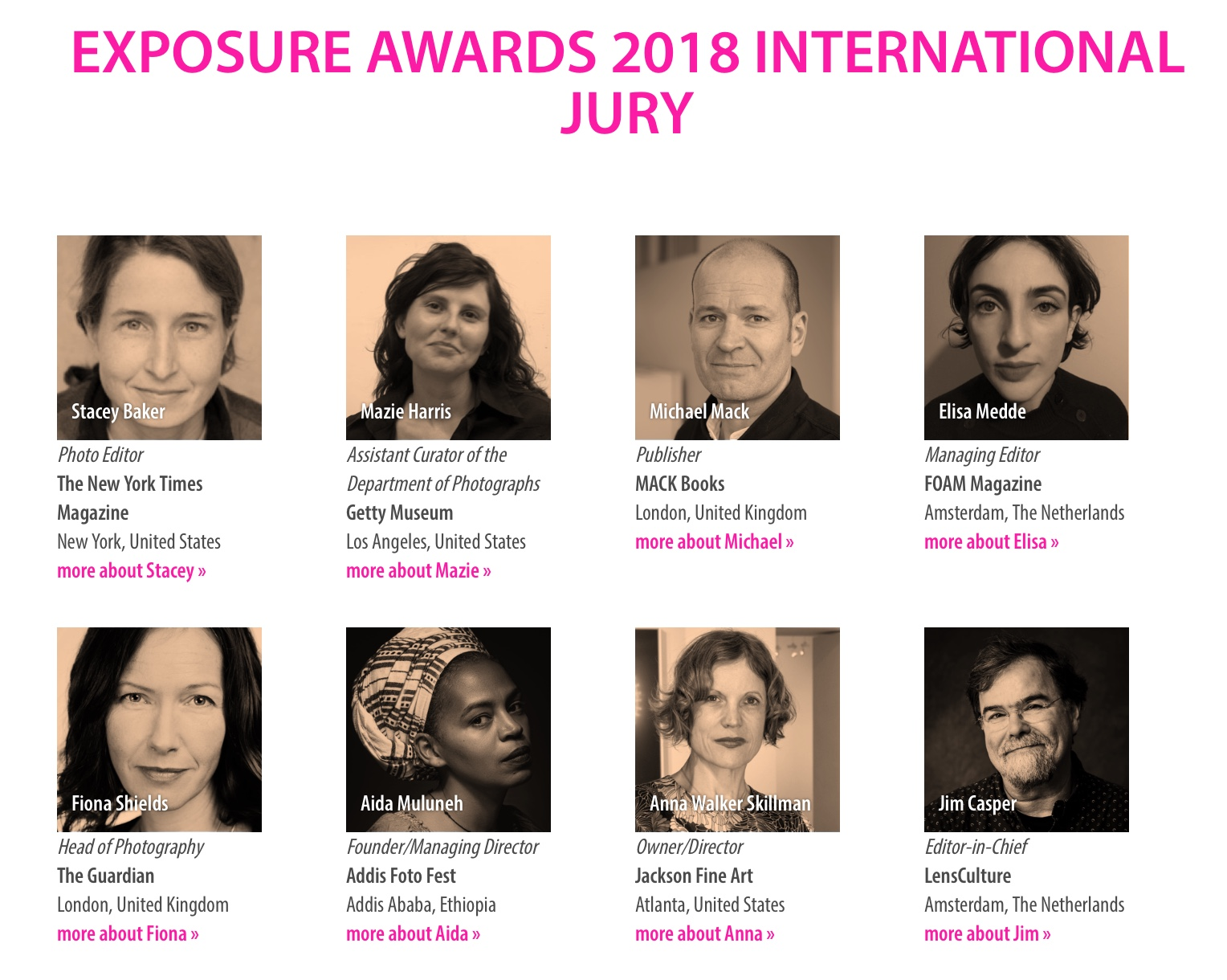 The LensCulture Exposure Awards aim to discover and showcase the world's best contemporary photographers! The competition helps photographers of all levels gain global recognition and provide career-changing exposure for the jury's six winners. With a following of 2.8 million global audiences, it is the largest contemporary photography community in the world.