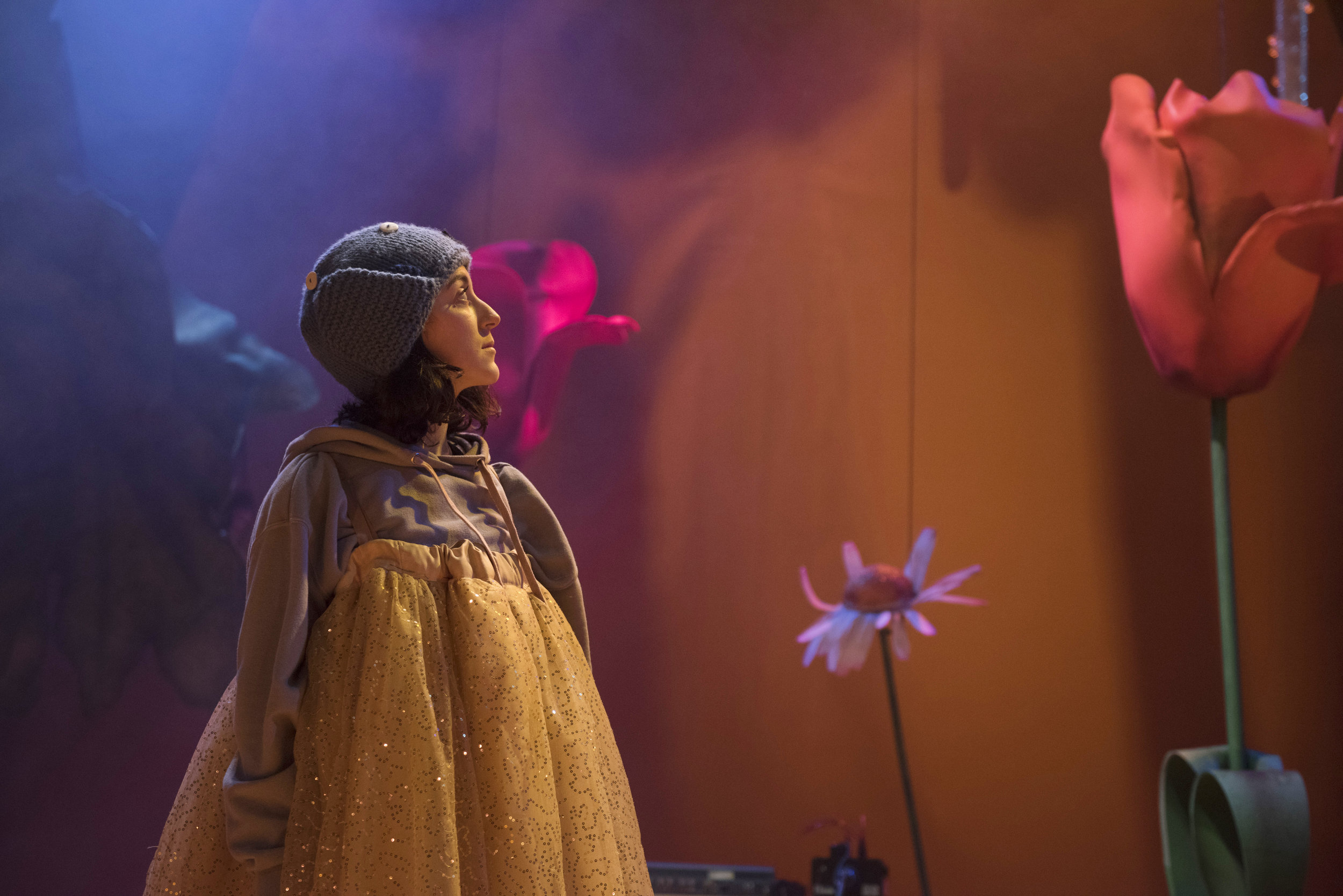 Amalia Vitale as Sandy in Beginners at Unicorn Theatre. Photo credit Hugo Glendinning.JPG