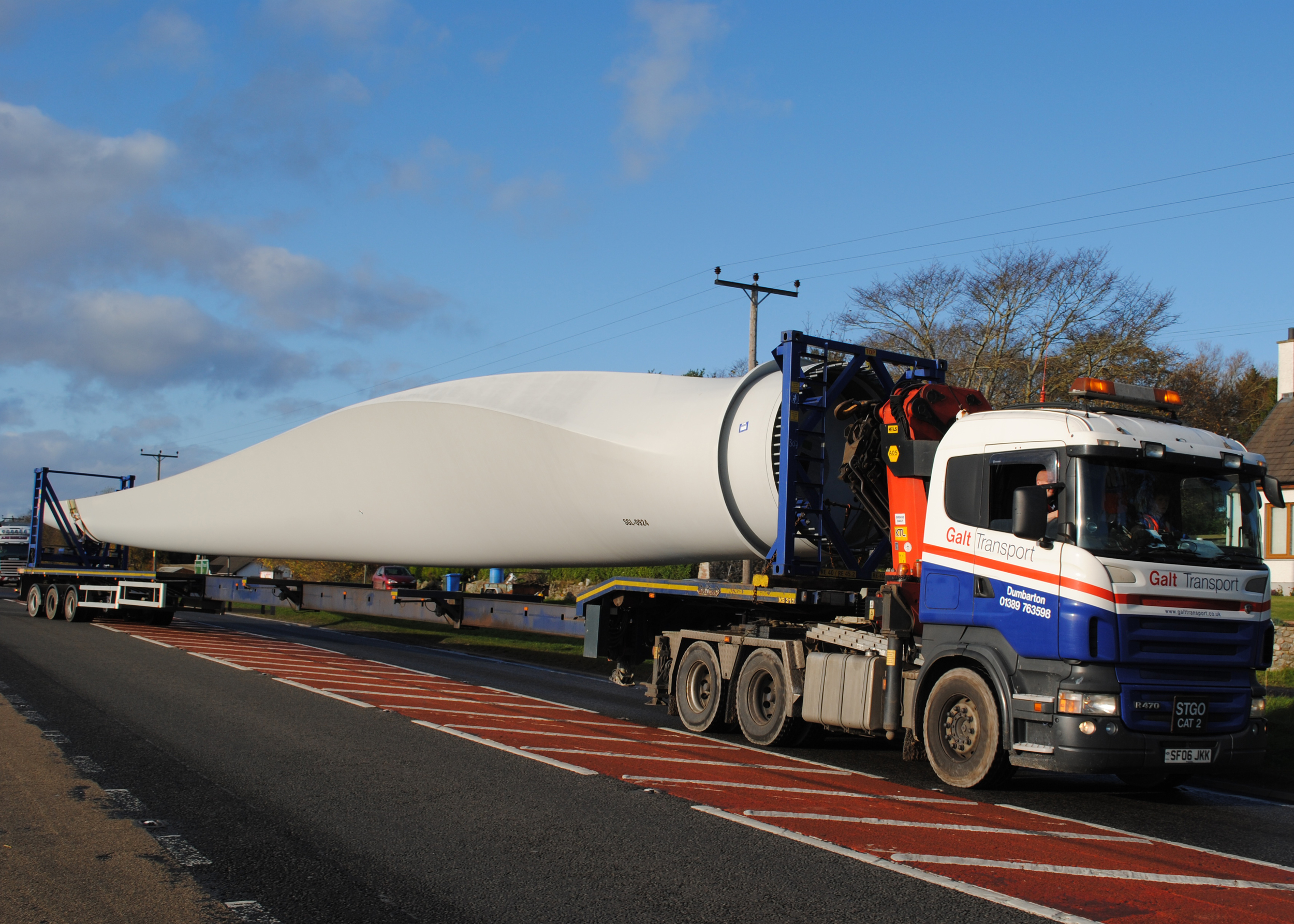 Abnormal load of wind turbine blade
