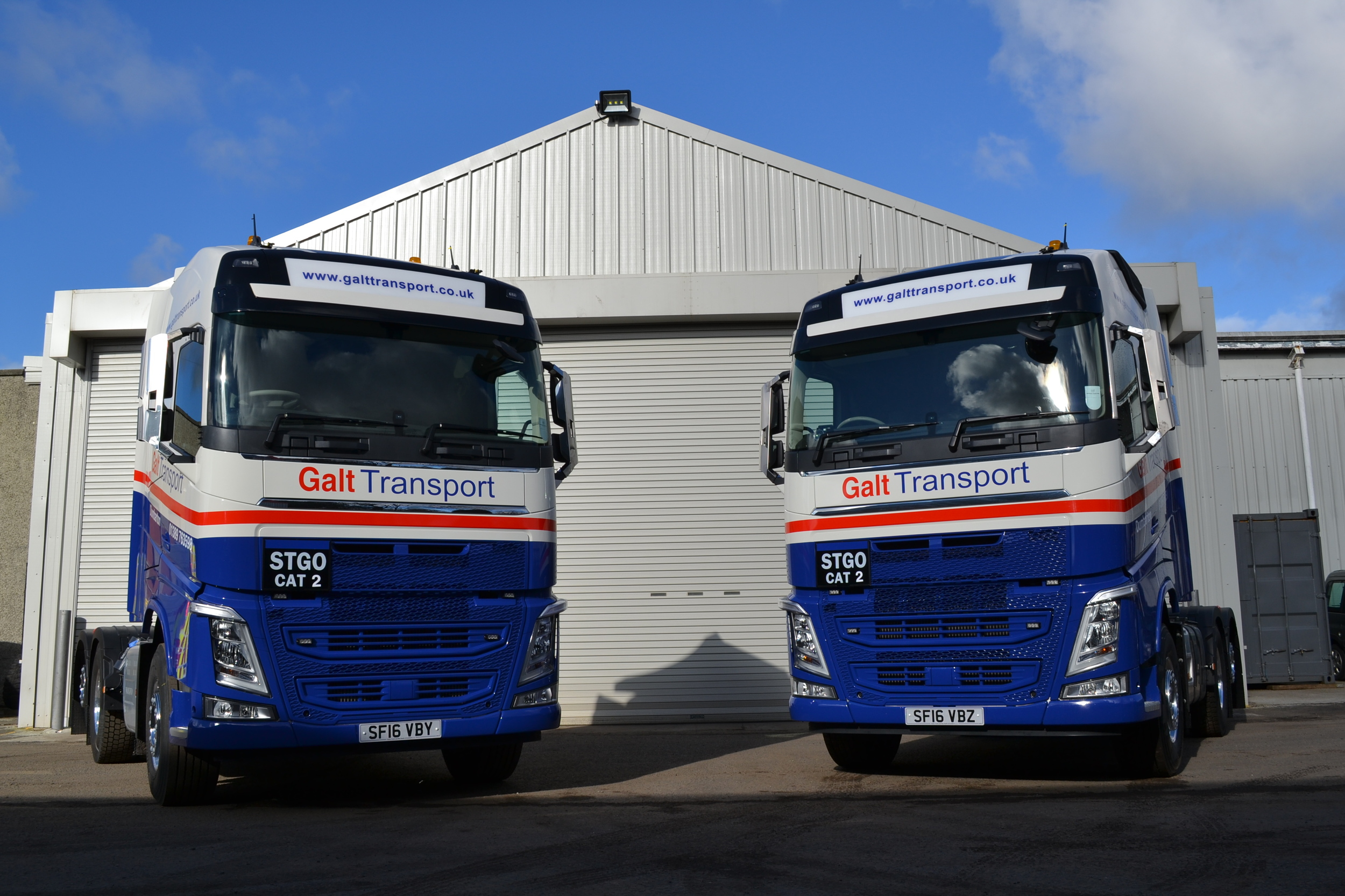 Two new Volvo FH12 trucks added to Galt's fleet