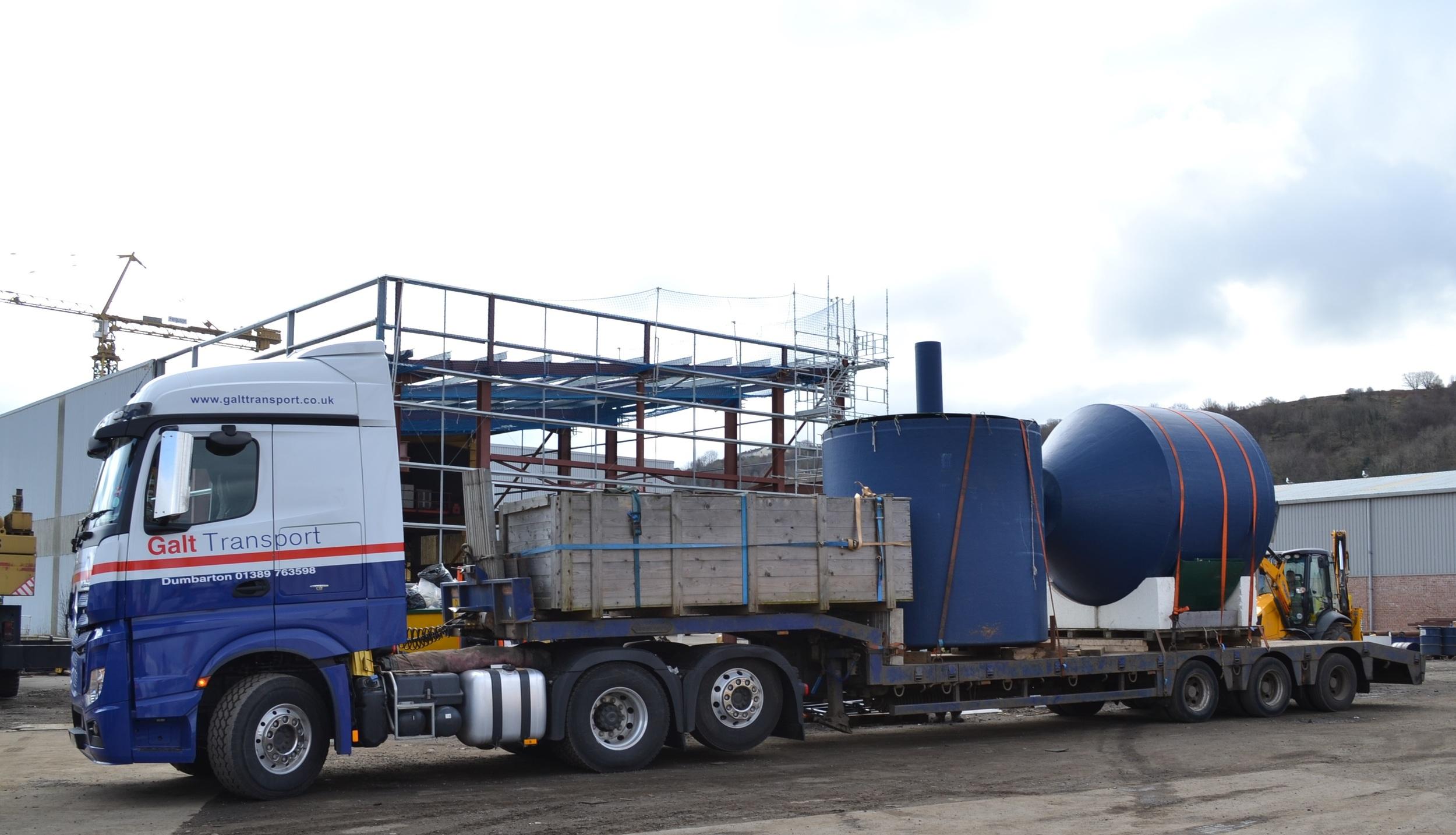 Semi-low loader Glasgow job