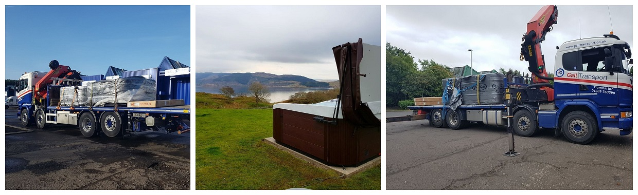 Hot tubs positioned in beautiful locations