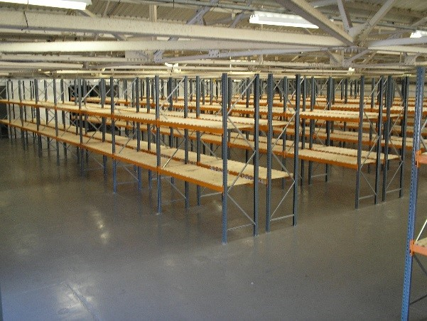 Open racking is available for loose and pallet storage