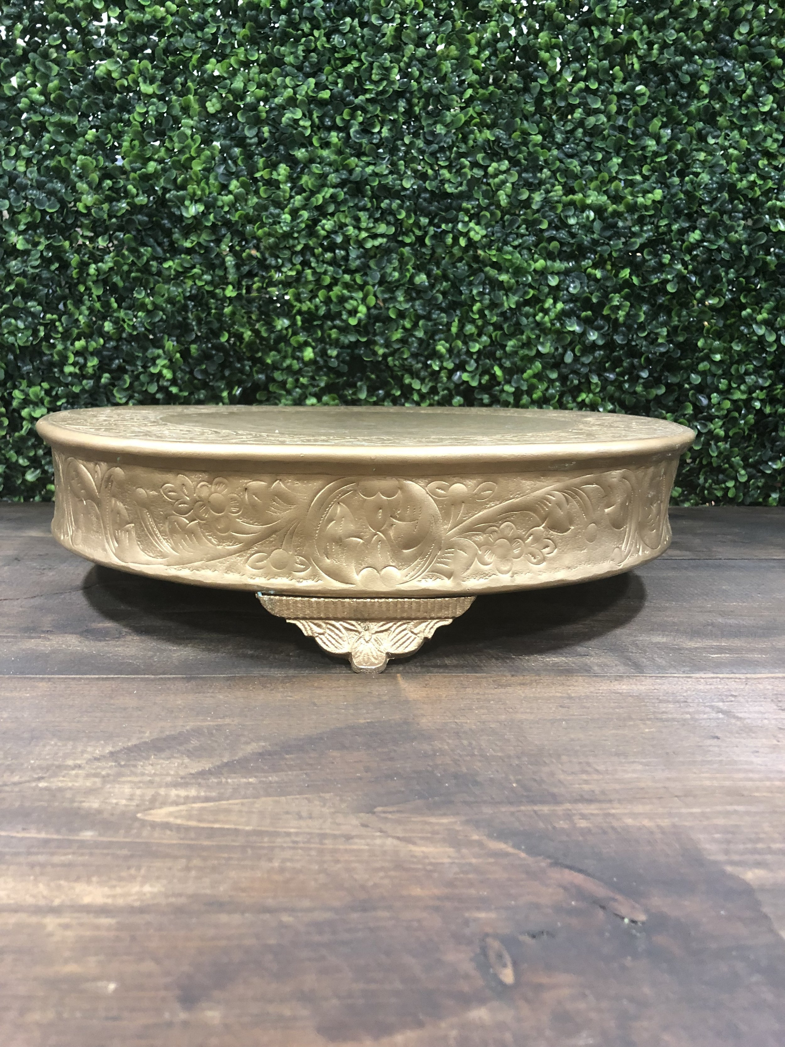 "Gold 16"" Cake Stand"