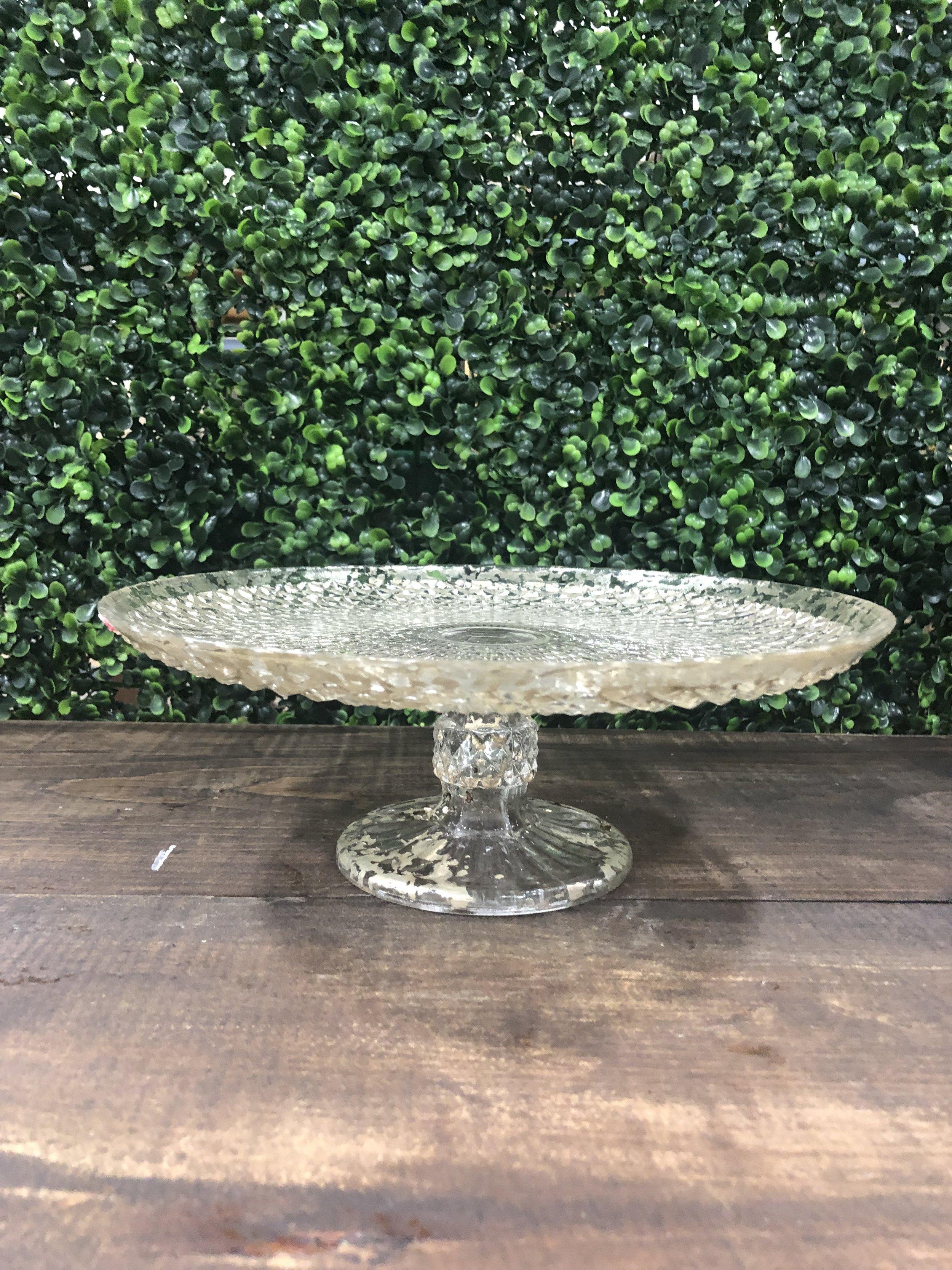 Mercury Glass Cake Plate