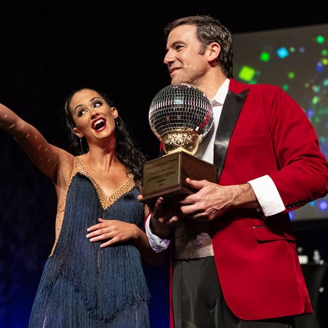 Nick raised over $82,000 for Carolina Breast Friends and the Pink House, and also took home the Mirror Ball for Crowd Favorite with his professional dancing partner, Emily Guthrie.