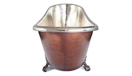 Copper clawfeet bath