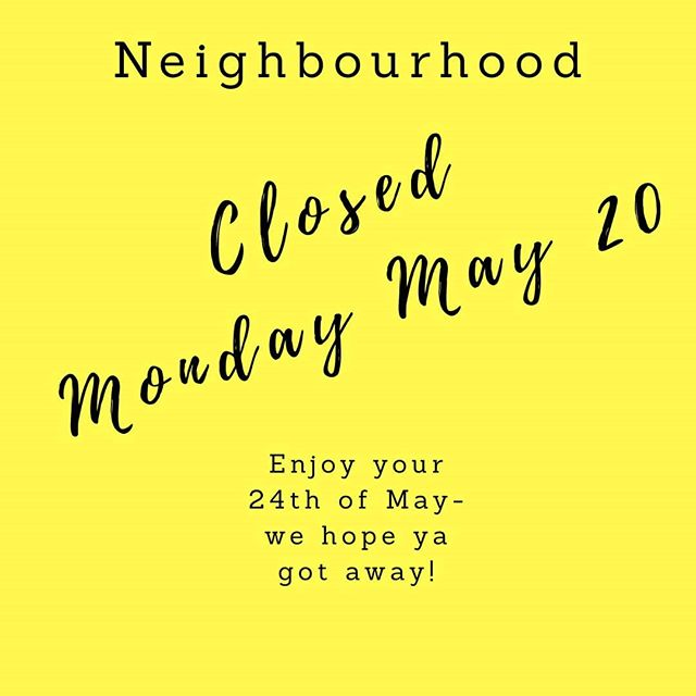 CLOSED for May long weekend!  Spring cleaning today? We can take your good wearable items off your hands!  Cleaning out towels and bedding? Those are perfect for rag production.  See ya tomorrow, 10-8p!  #socialenterprise #yyt #shoplocal #shopsecondhandfirst #donate #recycle #thriftshop #togetherwecan
