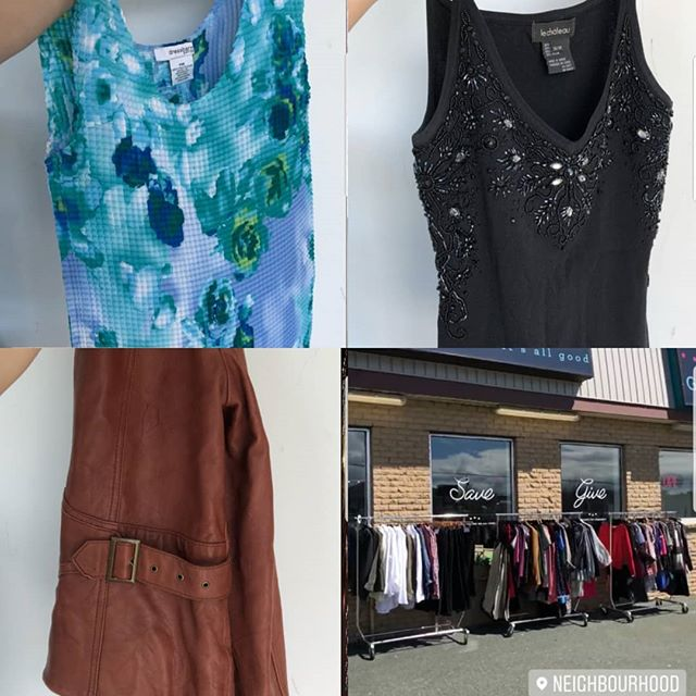 Sweet summer finds in the Neighbourhood! Did you know the nothing is priced over $12?  Visit us today - family shopping is easy peasy!  #shoplocal #treasurehunting #yyt #socialenterprise #reducereuserecycle