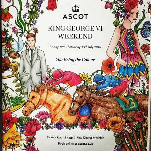This caught my eye on a London Underground. I love the naive style of the illustration. Ascot always seems to have good posters