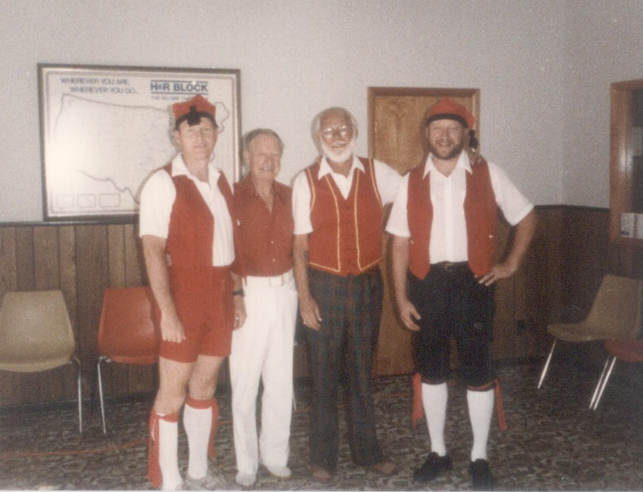 From left to right: Stan Kemp, Cass Kemp, Dan Plank, Bill Kemp.