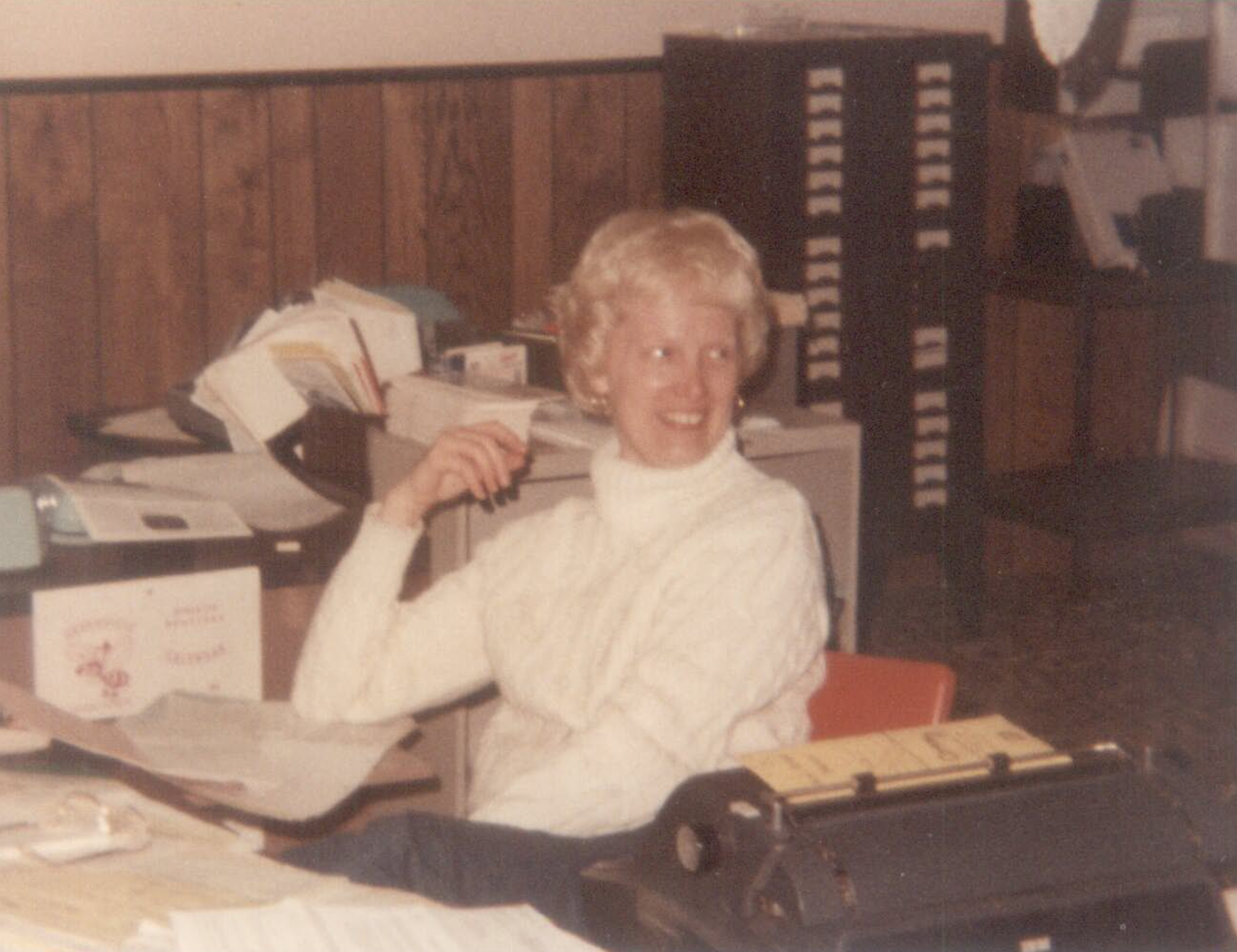 Mary Plank. Mary was an invaluable part of Kemp Insurance for many, many years.