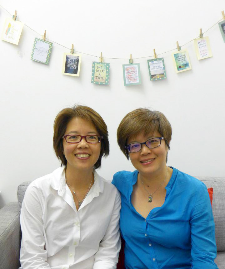 (From left) Corinna and Serena Lim