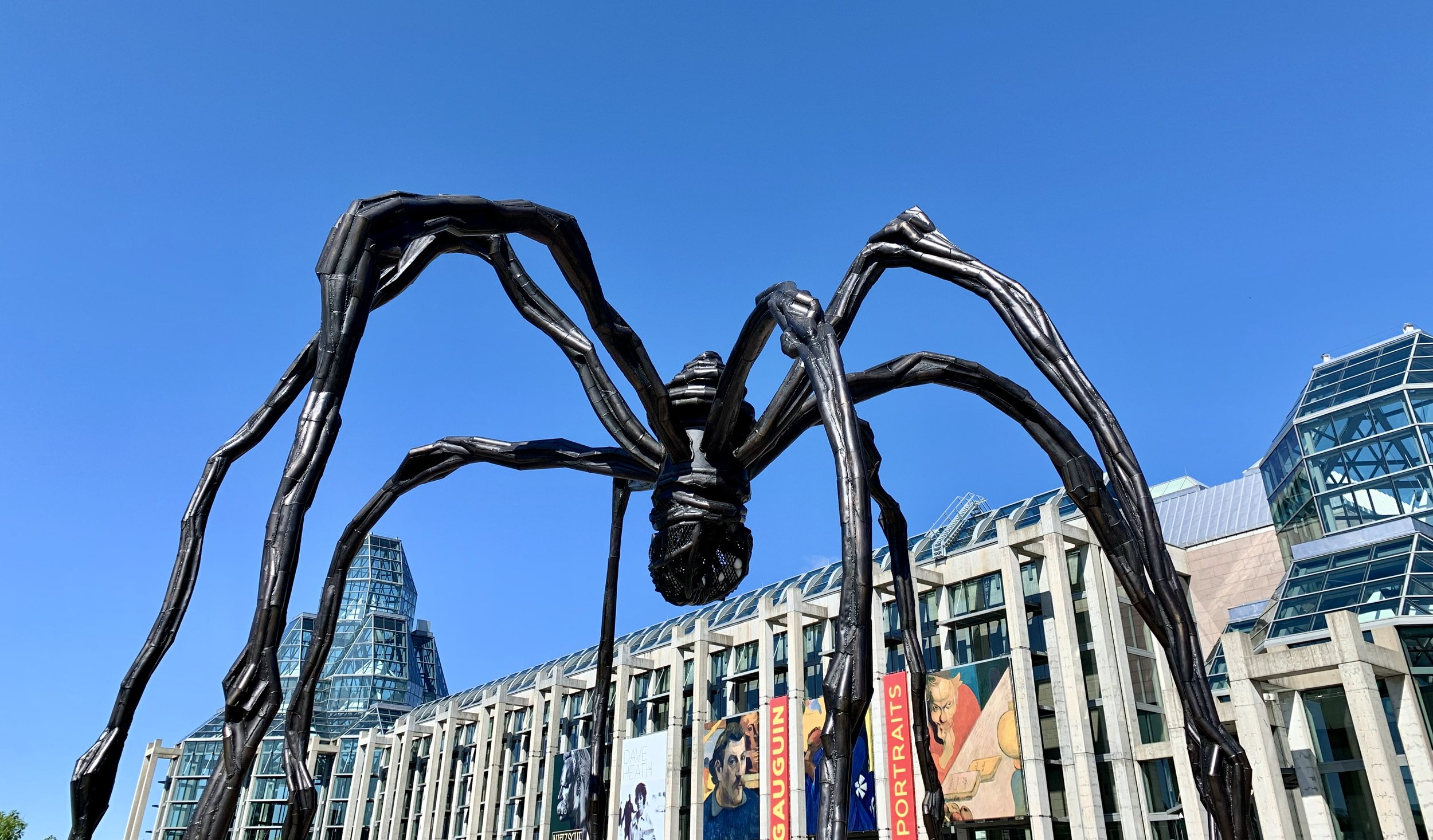 "Louise Bourgeois' magnificent spider sculpture ""Maman"" at the National Gallery in Ottawa."